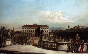 Bernardo Bellotto - Liechtenstein Garden Palace em Viena Visto do Leste