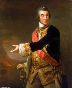 Richard Brompton - Retrato do almirante Sir Charles Saunders