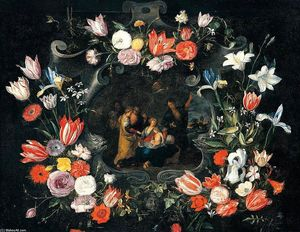 Jan The Younger Brueghel - ainda a vida de a sacro Parentesco