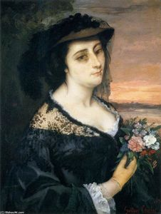 Gustave Courbet - Retrato de Laure Borreau
