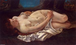 Gustave Courbet - reclináveis mulher