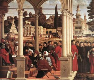 Vittore Carpaccio - Disputa of santo estêvão