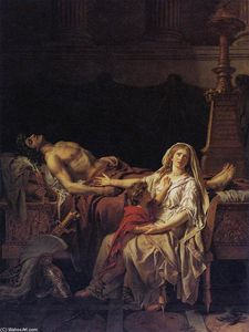 Jacques Louis David - Andrômaca Mourning Hector