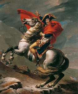 Jacques Louis David - napoleão no st . bernard pass