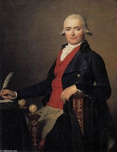 Jacques Louis David - Retrato de Gaspar Mayer