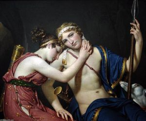 Jacques Louis David - A despedida de Telêmaco e Eucharis