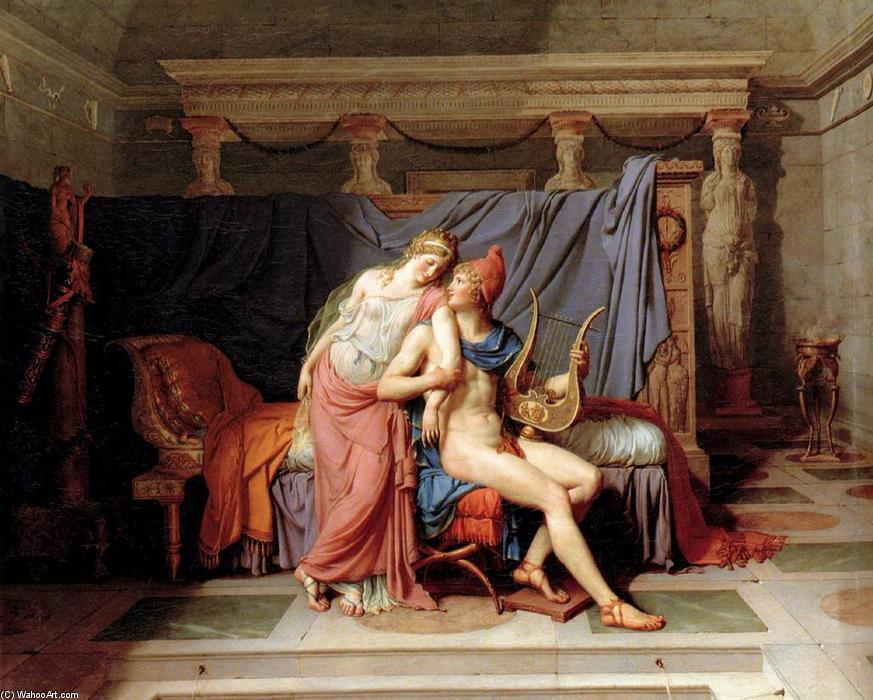 Os Amores de Paris e Helen, 1788 por Jacques Louis David (1748-1800, France) | Reproduções De Belas Artes Jacques Louis David | WahooArt.com