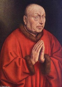 Jan Van Eyck - O Altarpiece de Ghent: The Donor (detalhe)