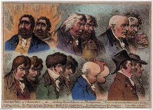 James Gillray - Dublures de Personagens