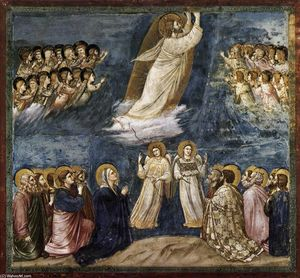 Giotto Di Bondone - Não . 38 Cenas de Vida of Cristo : 22 . Ascension