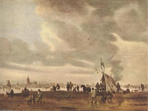 Jan Van Goyen - visto do haia dentro de Inverno