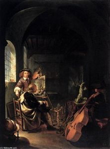 Frans Van Mieris - O estúdio do pintor