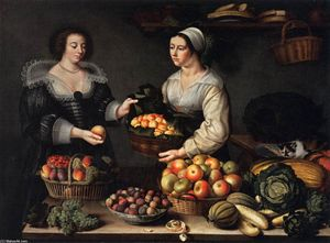 Louise Moillon - A Fruit and Vegetable Costermonger