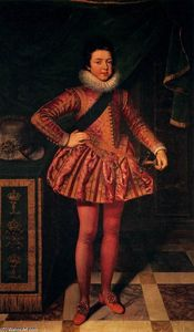 Frans The Younger Pourbus - Retrato of Louis XIII of France na idade Dez
