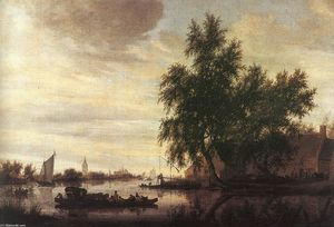 Salomon Van Ruysdael - O Ferryboat