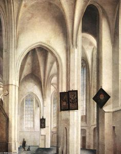 Pieter Jansz Saenredam - Interior of o st Jacob Church polegadas Utrecht