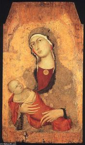 Simone Martini - Madonna and Child (a partir de Lucignano d Arbia)