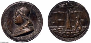 Sperandio Savelli - Medalha do Cardeal Francesco Gonzaga (verso)