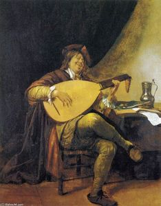 Jan Steen - Self-Portrait as uma Alaudista