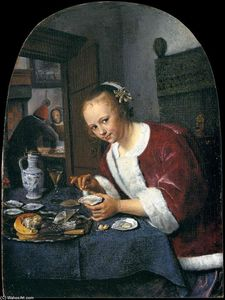 Jan Steen - O Oyster-comedor