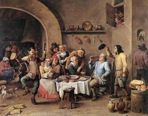 David The Younger Teniers - duodécimo Noite O Rei Bebidas