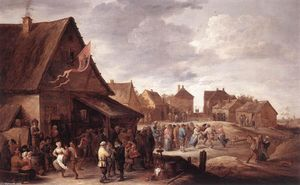 David The Younger Teniers - aldeia banquete