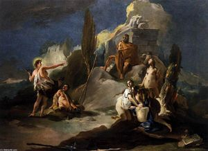 Giovanni Battista Tiepolo - Apollo e Marsyas