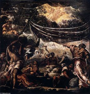Tintoretto (Jacopo Comin) - o milagre do maná