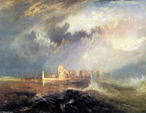 William Turner - Quillebeuf, na Boca do Seine