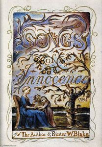 William Blake - Songs of Innocence (Frontispício)