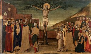 Carlo Braccesco - Crucifixion of santo andré