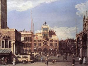 Giovanni Antonio Canal (Canaletto) - Piazza San Marco: a Torre do Relógio