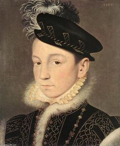 François Clouet - Retrato of King Charles IX of France