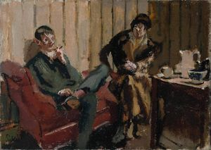 Walter Richard Sickert - O Tea Party Little: Nina Hamnett e Roald Kristian