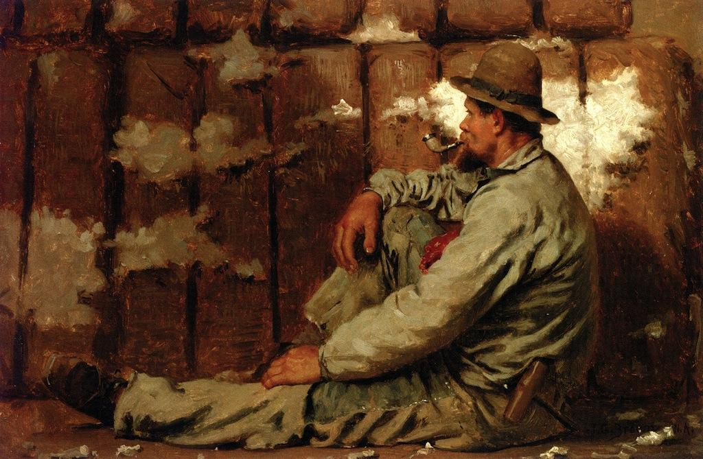 A Longshoreman, óleo sobre tela por John George Brown (1831-1913, United Kingdom)