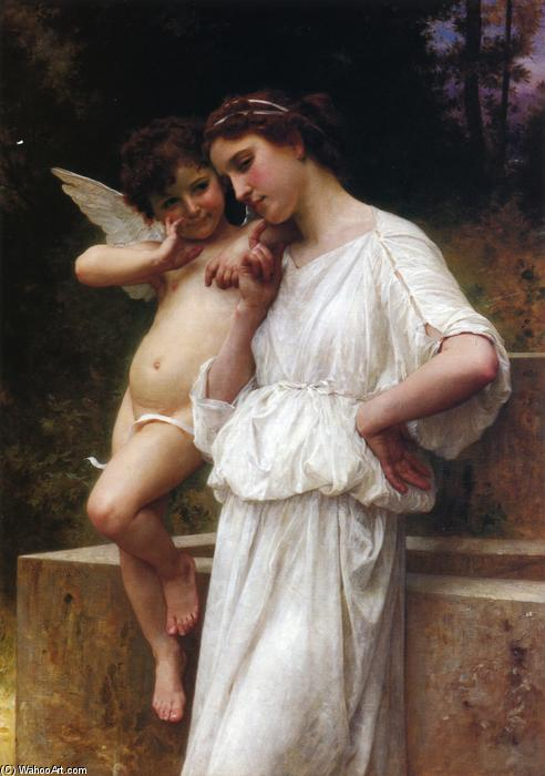 Scerets do Amor, óleo sobre tela por William Adolphe Bouguereau (1825-1905, France)