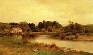 George Henry Smillie - Mill Pond em Ridgefield, Connecticut