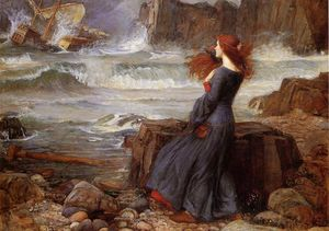 John William Waterhouse - Miranda - a tempestade