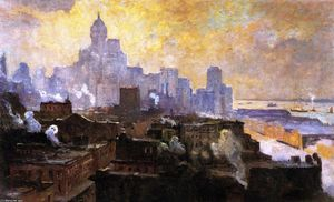 Colin Campbell Cooper - Montanhas of Manhattan