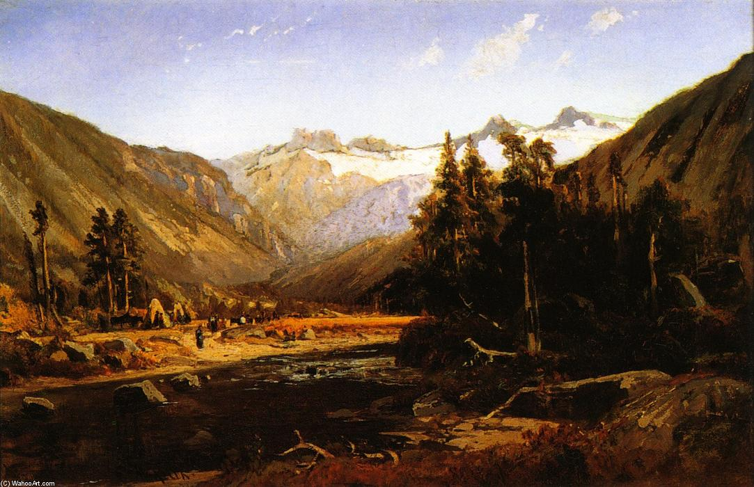 Monte Lyell , Califórnia Serra, óleo sobre tela por William Keith (1838-1911, Scotland)