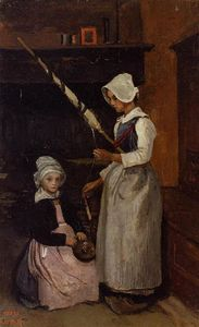 Jean Baptiste Camille Corot - Mur Camponeses