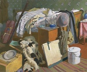 William Newenham Montague Orpen - Meu Workroom em Cassel