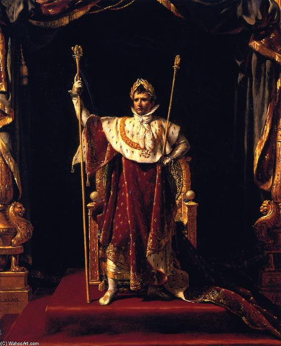 Napoleon Eu na sua Imperial Robes, 1805 por Jacques Louis David (1748-1800, France) | Copy Pintura | WahooArt.com