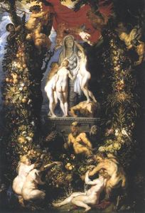 Peter Paul Rubens - natureza adorning os três Graces