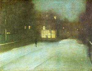 James Abbott Mcneill Whistler - Nocturne: cinza e ouro - Chelsea Neve