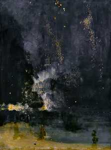 James Abbott Mcneill Whistler - Nocturne in Black and Gold: The Rocket de queda