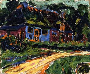 Ernst Ludwig Kirchner - Old House, Fehmarn