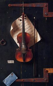 William Michael Harnett - a velho violino