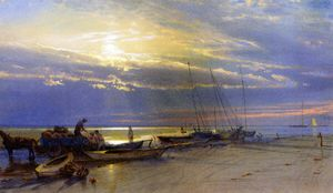 William Trost Richards - On the Inlet, Atlantic City, New Jersey