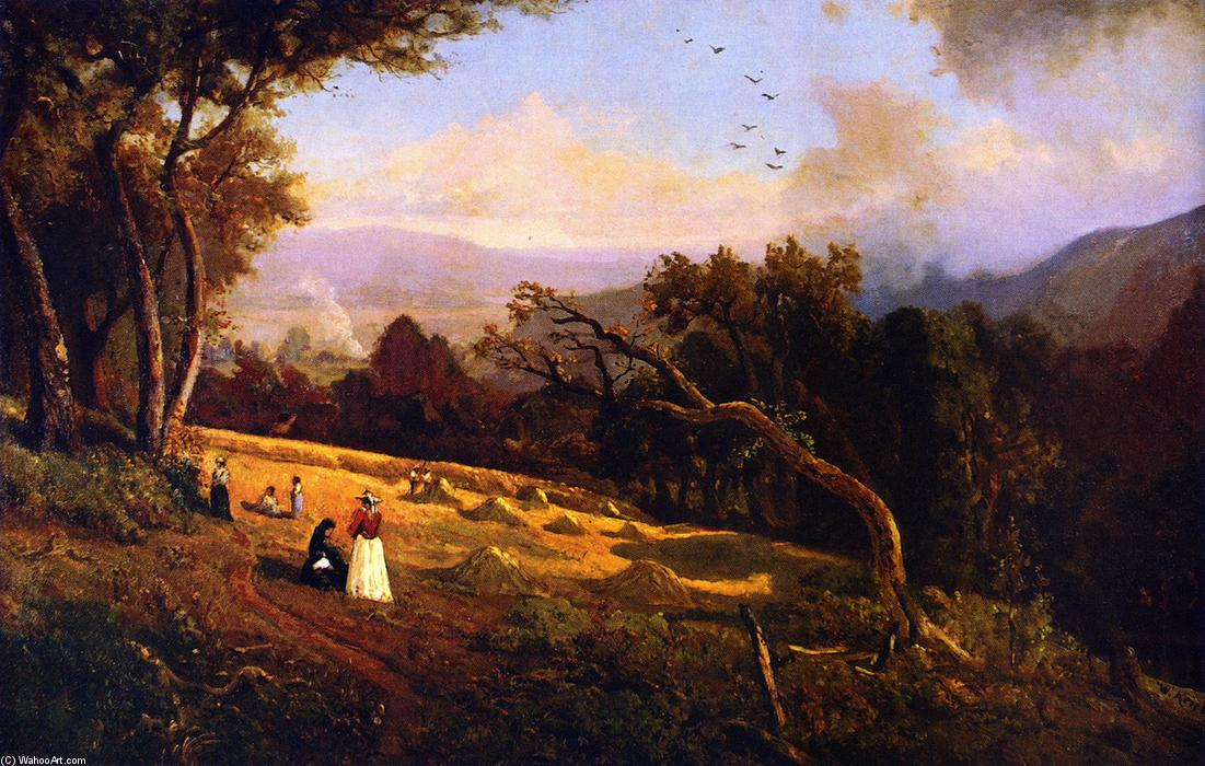 Cena pastoral Hillside, óleo sobre tela por William Keith (1838-1911, Scotland)